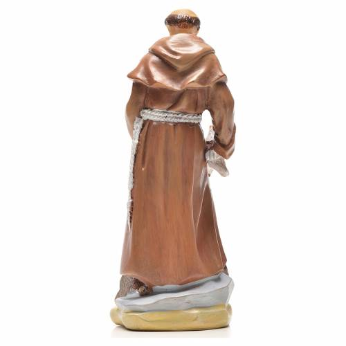 Saint François de Assise 12cm image et prière en Italien s2