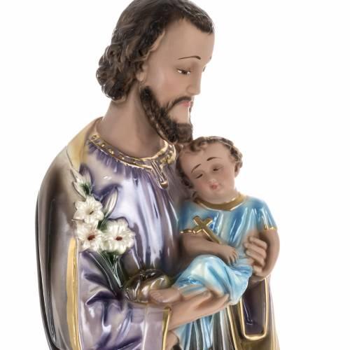Saint Joseph plâtre perlé 60 cm s2