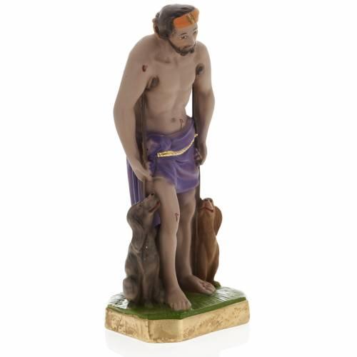 Saint Lazarus statue in plaster, 30 cm s2