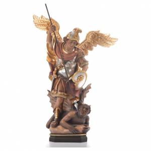 Hand painted wooden statues: Saint Michael Archangel