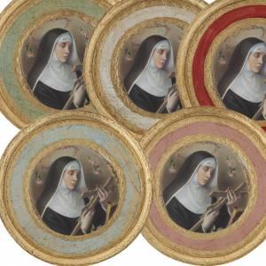 Saint Rita picture on round wood panel s1