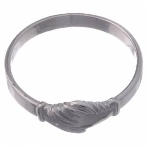 Prayer rings: Saint Rita ring in 925 silver with shaking hands