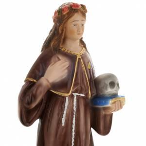 Saint Rosalia statue in plaster, 30 cm s2