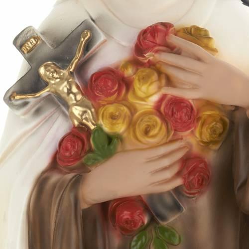 Saint Theresa statue in plaster, 30 cm s3