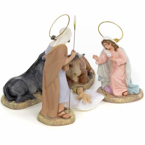 Sainte Famille 5 figurines pâte à bois 15 cm finition raffinée s4