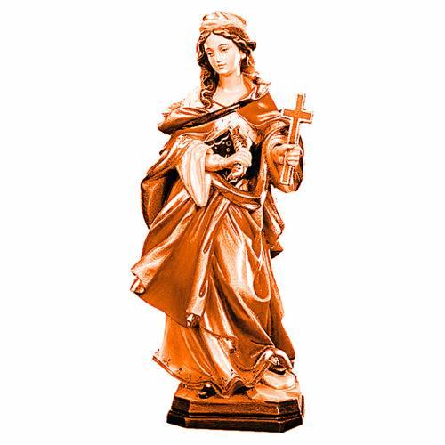 Sainte Marguerite avec croix bois différentes nuances brun s1