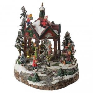 Pueblos navideños en miniatura: Salón de baile en miniatura con música diám. 25 cm