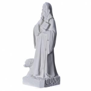Imágenes en polvo de mármol de Carrara: San Antonio polvo de mármol blanco 35 cm