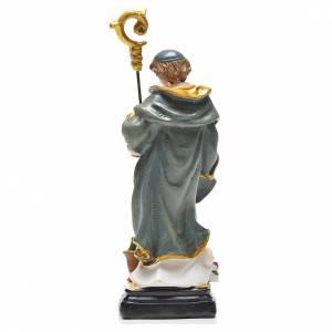 San Benito 12cm con imagen y oración en Francés s2