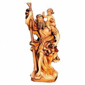 San Cristoforo in legno varie tonalità di marrone s1
