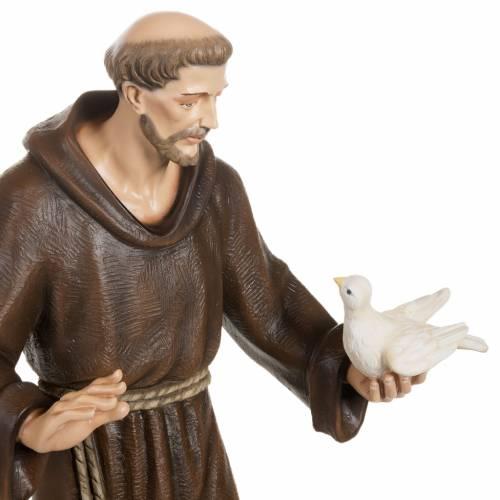 San Francesco con colombe 80 cm fiberglass s5