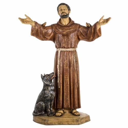 San Francesco d'Assisi 100 cm resina Fontanini s1