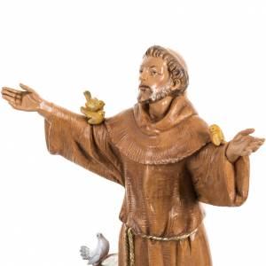 San Francesco d'Assisi 30 cm Fontanini tipo legno s3