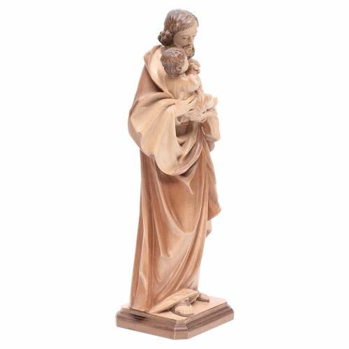 San Giuseppe di Guido Reni legno Valgardena multipatinato s4