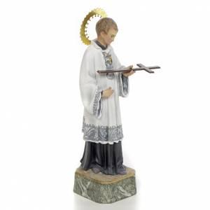 San Luigi Gonzaga 20 cm pasta di legno decoro elegante s2