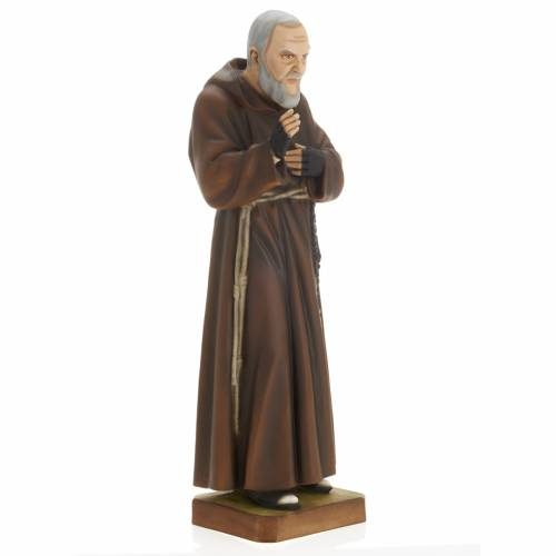 San Padre Pío 60 cm polvo de mármol pintado s6