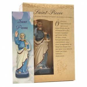 San Pedro 12cm con imagen y oración en Francés s3