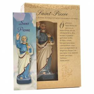 San Pietro 12 cm con immaginetta PREGHIERA FRANCESE s3