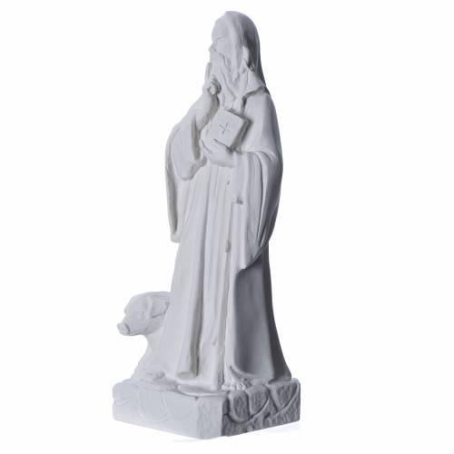 Sant'Antonio Abate 35 cm marmo bianco s2