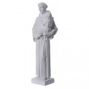 Sant'Antonio da Padova 40 cm polvere di marmo bianco s2