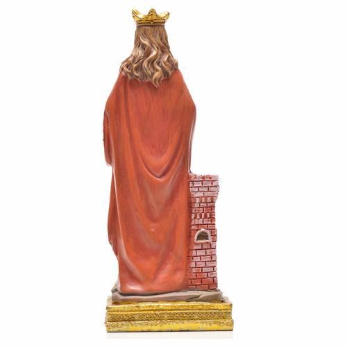 Santa Barbara 12 cm con immaginetta PREGHIERA SPAGNOLO s2