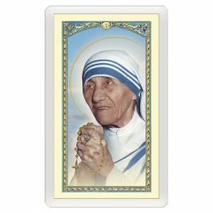 Santino Madre Teresa di Calcutta Vivi la Vita ITA 10x5