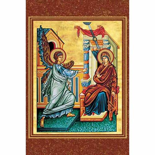 Santino religioso Annunciazione bizantina s1