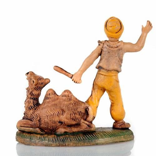 Chamelier avec chameau et bâton 8 cm s2