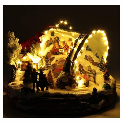 Scena campana di Natale 25x35x40 cm s4