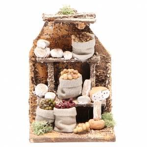 Scène avec fromages 15x10x9 cm crèche napolitaine s1