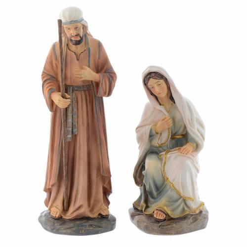 Scène Nativité 3 pcs 20 cm en résine s2