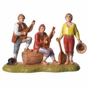 Scene with 4 nativity figurines, 6cm Moranduzzo s2
