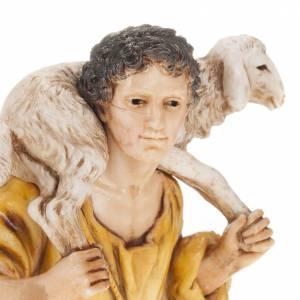 Krippenfiguren: Schäfer mit Lamm  Moranduzzo 13 cm
