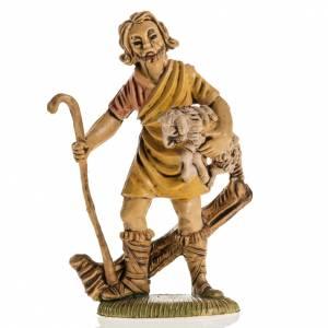 Krippenfiguren: Schäfer mit Schaf Harz 8cm