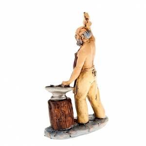 Krippenfiguren: Schmied mit Amboss 10cm
