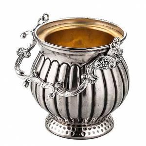 accessoires pour bénédictions: Seau à eau bénite laiton ciselé décoré