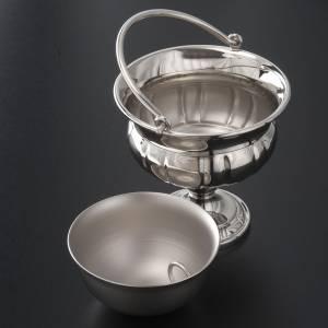 accessoires pour bénédictions: Seau à eau bénite laiton ncikelé