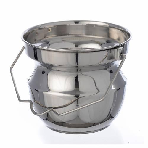 Secchiello per benedizioni in acciaio senza fodera s1