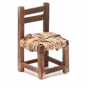 Presepe Napoletano: Sedia legno h 6 cm presepe napoletano