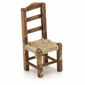 Sedia legno presepe fai da te h 4.5 cm s1