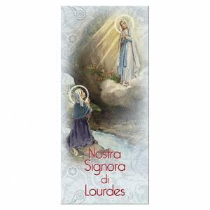 Segnalibro: Segnalibro carta perlata Apparizione di Lourdes Novena 15x5 cm ITA