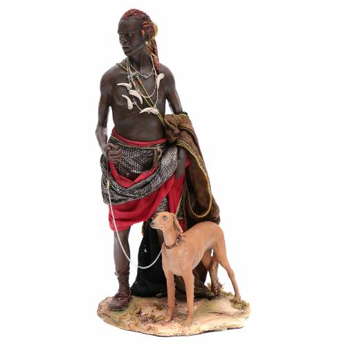 Servant with dog 30cm Angela Tripi s1