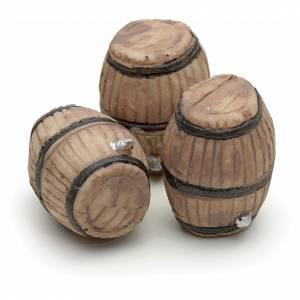 Set 3 barriles resina pesebre 3 cm s2