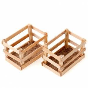set cagettes en bois pour crèche s1