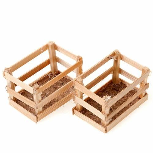 set cagettes en bois pour crèche 1