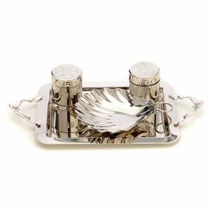 Baptism sets and Holy oils: Set for Baptism in silver brass