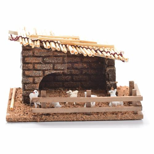 Sheepfold for nativities measuring 6cm s1