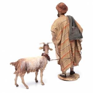 Angela Tripi Nativity scene: Shepherd with goat, 30cm made of Terracotta by Angela Tripi