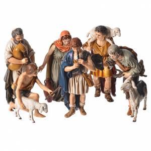 Shepherds, 6 nativity figurine, 13cm Moranduzzo s1