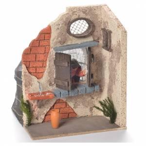 Signora alla finestra 10 cm movimento presepe Napoli s2